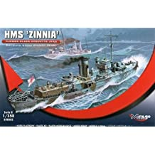 Mirage Hobby 350.802, 1: 350 escala, el HMS ZINNIA - Flor Clase Corvette, kit de modelo de plástico
