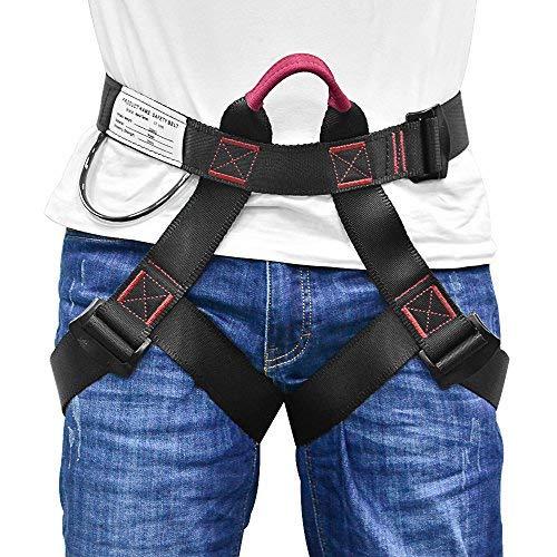 Klettergurte Befestigender Klettergut, Schützen Sie Ihre Taille mit diesem Sicherheitsgurt, breiterer Halbgurt zum Bergsteigen, Feuerrettung, Für Frauen, Männer und Kinder halber Körperklettergurt