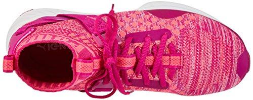Puma Ignite Evoknit Jr, Sneakers Basses Mixte Enfant Rose (Ultra Magenta-knockout Pink 03)