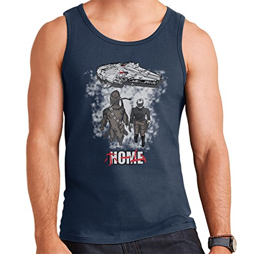 Star Wars Millenium Falcon Akira Title Picture Men's Vest Navy Blue