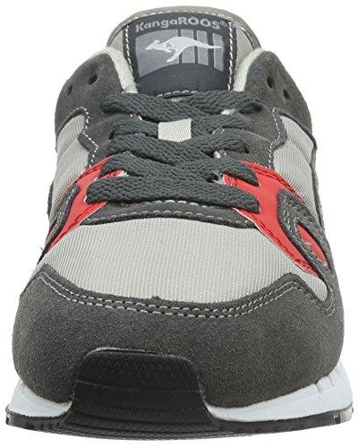 Kangaroos Omnicoil Ii, Chaussures De Sport Multicolores Unisexes (mehrfarbig (dk Grey / Flame Red 266))
