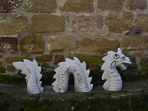 Große Steinfigur Ungeheuer Loch Ness Nessie aus Steinguss, frostfest