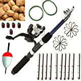 #4: 65Pcs Fishing Kit Rod Reel String Hook Float Lead Weight Fishing Tackle