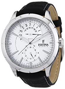 Reloj Festina F16573/1 de cuarzo para hombre con correa de piel, color negro de Festina