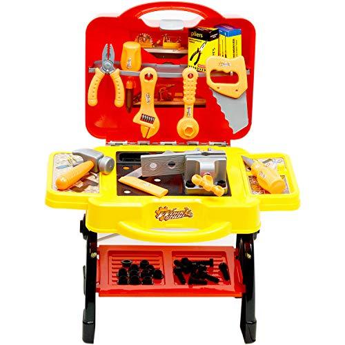 Inside Out Toys Banco Trabajo Set Herramientas Juguete