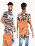 RKH Notebook-Rucksack mit Schulterriemen für Damen und Herren, 38,1 cm (15 Zoll), Vintage-Leder, Braun