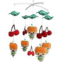 [Apfel-Mädchen liebt Kirsche] Handgemachte Spielwaren, drehbare Krippe beweglich preisvergleich bei kleinkindspielzeugpreise.eu