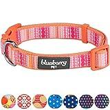 Blueberry Pet Moderner Trend Bunte Perlen Hundehalsband, Hals 37cm-50cm, M, Verstellbare Halsbänder für Hunde