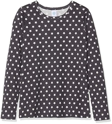 Sanetta Mädchen Schlafanzugoberteil Shirt, Grau (Dark Slade 1770.0), 140
