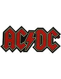 AC/DC logo écusson Cutout–Patch tissé 9,5x 4,5cm