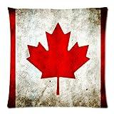 Custom Fashion Home Decor Kanada Flagge Schöne Leaf Überwurf Kissen Cover Kissen casess 18x 18(Zwei Seiten)