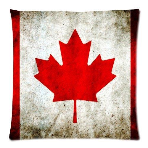 Custom Fashion Home Decor Kanada Flagge Schöne Leaf Überwurf Kissen Cover Kissen casess 18x 18(Zwei Seiten) (Kanada Flagge Kissen)