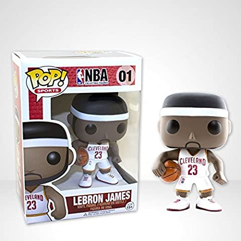 Pop! Sports LeBron James White Home Jersey Figure by