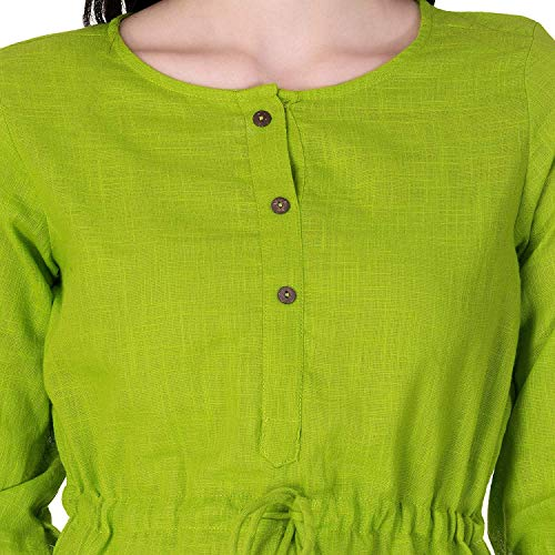 SCION Women's Cotton Slub Top (SCTP01, Green, Medium)