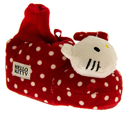 Hello Kitty ECO Polkadot Cheville Manchette Pantoufles Bottes Filles Rouge