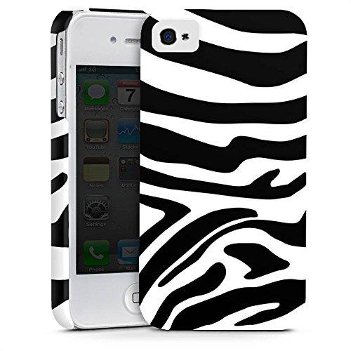 Apple iPhone 6 Plus Silikon Hülle Case Schutzhülle Zebra Animal dschungel Premium Case glänzend