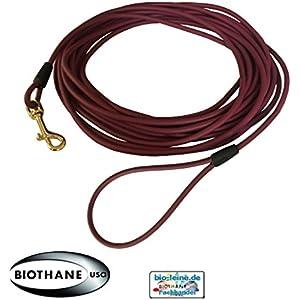 Runde Beta BioThane® Weinrot 6,4 mm Durchmesser