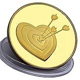 San Valentino - Moneta d'amore e regalo romantico - placcato in Oro 24 carati 99,9% - perfetto per un'occasione speciale - per un regalo per un anniversario - 28 grammi - 4,0 cm monete - Astuccio gratuito e borsellino in velluto da regalo - spedito da Amazon