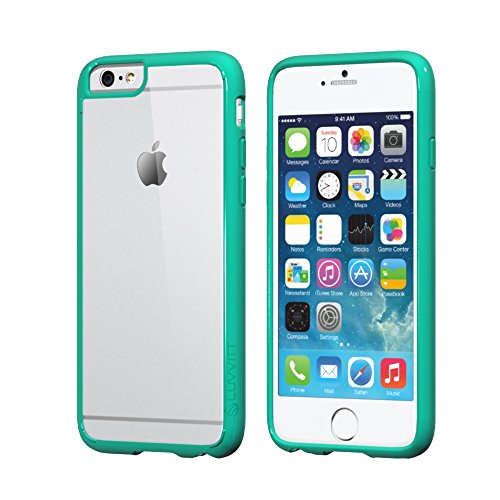 iPhone 6S Schutzhülle, luvvitt [Clearview] iPhone 6Schutzhülle [Hybrid klare Sicht Armor Serie] [Crystal Clear] Bumper Case mit Clear Rückwand–Retail Verpackung–Bumper Schutzhülle für iPhone 6– Clear / Mint Green