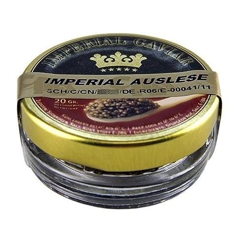 Imperial Auslese Kaviar, Kreuzung Amur x Beluga Stör (schrenckii x dau), 20g. | Sparset mit Lacross-Schreibblock