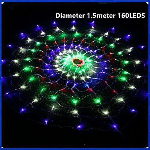 (BABIFIS Net Lights Holiday Lights 1,5 * 1,5 mt, 2 * 2 mt, 3 * 3 mt im freien Wasserdichte terrasse Dekoration Farbe Laternen Landschaft Layout Plug-in runde Spinnennetz licht)