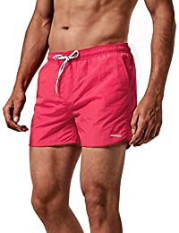 MaaMgic Men Swimming Shorts Classic Mesh Lined Surf Trunks Quick-Drying Beach Shorts Adjustable Drawstring Swimwear Multi Color Pants with Pockets for Bathing Drawers Holiday Watershort
