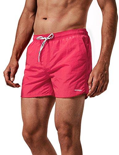MaaMgic Herren Slim Fit Shorts Quick Dry Badehose mit Mesh-Futter Herren - Leute Vintage Kleine