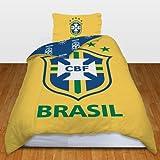 Brazil Football Team Single Duvet Quilt Cover Bedding Set