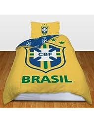 Brésil Football officiel unique housse de couette et taie d'oreiller - CBF