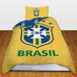 Brazil Football Team Single Duvet Quilt Cover Bedding Set
