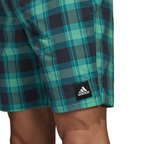 adidas Herren Check ml Badeshorts Green/Carbon