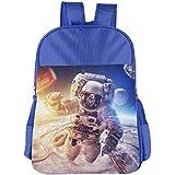 Universe Astronaut Kids School Shoulder Backpack Bag Children Bookbag