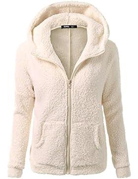 LuckyGirls Abrigo de invierno con capucha abrigo de lana con capucha de algodón cálido abrigo chaqueta con yardas...