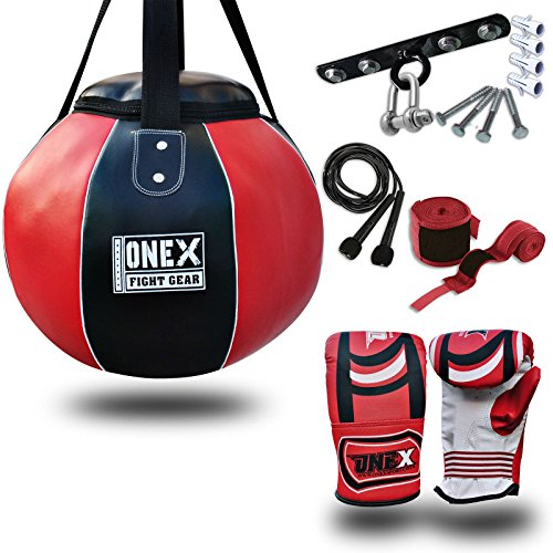 onex-heavy-filled-wrecking-ball-boxing-genuine-cowhide-leather-maize-punch-bag-mma-training-sparring