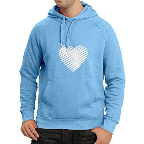 Kapuzenpullover Stilvolle Herzen, ich liebe dich Geschenke Valentinstag Outfits (Small Blau Weiß)