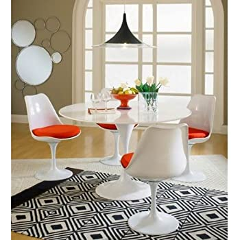 Bct 4 X Eero Saarinen Tulip Chair Dinning Tulip Table O120cm