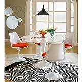 BCT, 4sedie Eero Saarinen Tulip e tavolo da pranzo con diametro di 120cm