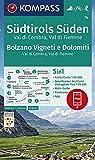 KOMPASS Wanderkarte Südtirols Süden, Bolzano Vigneti e Dolomiti, Val di Cembra, Val di Fiemme: 5in1 Wanderkarte 1:50000 mit Panorama, Aktiv Guide und ... Skitouren. (KOMPASS-Wanderkarten, Band 74)