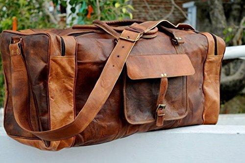 ledertaschen Leder Reisetasche Handgepäck Umhängetasche Freizeittasche Sporttasche Weekender Geräumig Schnalle Vintage Elegant Schick Le...