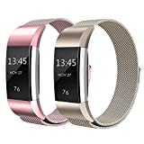 Sun studio Fitbit Charge 2 Armband, Milanese Fitbit Charge 2 Ersatzarmband Edelstahl Fitbit Armbänder Charge 2 mit Magnet-Verschluss Armband für Fitbit Charge  (5.5