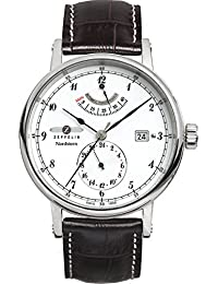 Zeppelin Watches Herren-Armbanduhr XL Analog Automatik Leder 7560-1