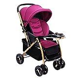 PLDDY passeggini leggeri Passeggino portatile per passeggini pieghevoli leggeri adagiantesi, bambino di alta montagna per bambini da viaggio Paesaggio Trolley110 * 80 * 57cm (colore : Purple)