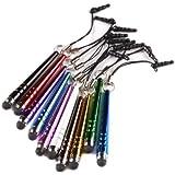 tinxi� 10x universal Stylus Stift Touch Pen Eingabestift mit 3.5 mm Staubschutz in verschiedenen Farben f�r alle Ger�te mit kapazitiven Touchscreen Smartphone Handy PDA Tablet PC