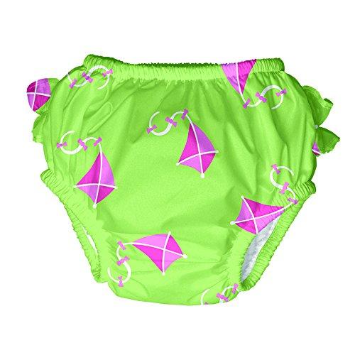 Preisvergleich Produktbild i Play. Schwimm-/Badewindel/Badewindel-Höschen Drachen grün-rosa Gr. M = 6-12 Monate/8-10 Kg