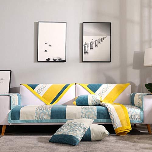 HM&DX Sofa Abdeckung Multi-Size Caterpillar Stripe Anti-rutsch Sofa Überwurf Alle Jahreszeiten Dekoration Sofa Throw Verkauft In Stück-B 110x160cm(43x63inch) - Chenille Multi Stripe