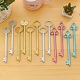 Hosaire 4 Pcs Black Gel Pen Set Key Kawaii School Supplies Office Stationary Photo Album Pens School Stationery(Silver Green Purple Gold)