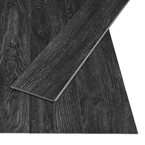 vidaXL PVC Klick Dielen Bodenbelag Rutschfest Vinylboden Vinyl Boden Fußboden Designboden Dielenboden Landhausdiele 3,51m² 4mm Eiche-Anthrazit