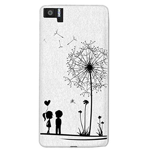 Funda para BQ Aquaris M5 (5 Pulgada) Teléfonos Móviles - MaiJin Diente de león Amor TPU Silicona Case Cover Parachoques Carcasa