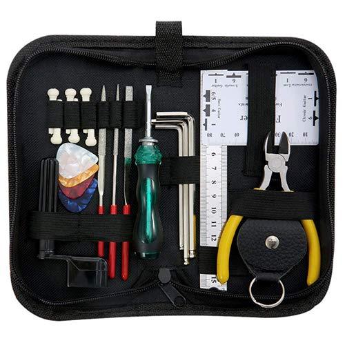 Gitarrenzubehör Reinigung Reparatur Installationswerkzeug Kit Stimmschlüssel Saitenwechsler Set Zitzengarnitur