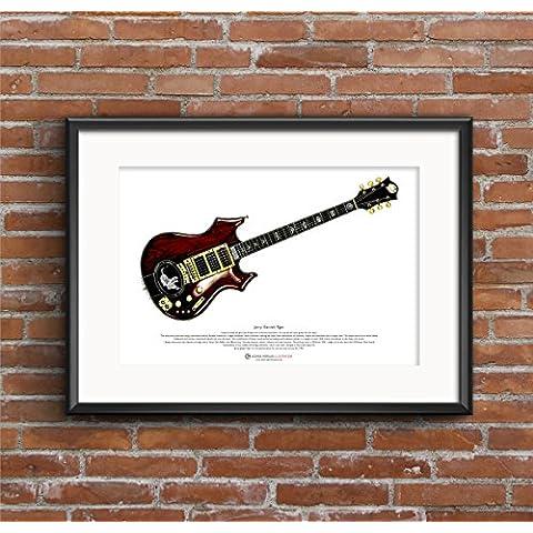 Chitarra di tigre di Jerry Garcia ART POSTER A3 dimensione - Inoltre Pickup